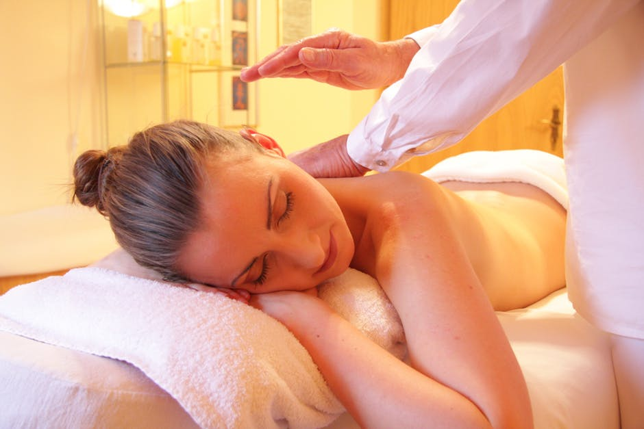 woman having massage in malta